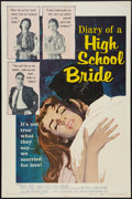 "Movie Posters:Exploitation, Diary of a High School Bride (American International, 1959). OneSheet (27"" X 41""). Exploitation.. ..."