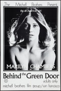 "Movie Posters:Adult, Behind the Green Door (Mitchell Brothers Film Group, 1972). One Sheet (24"" X 36""). Adult.. ..."