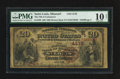 National Bank Notes:Missouri, Saint Louis, MO - $20 1882 Brown Back Fr. 498 The NB of CommerceCh. # (M)4178. ...