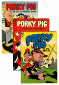 Golden Age (1938-1955):Cartoon Character, Four Color Porky Pig Group (Dell, 1948-52) Condition: AverageVF.... (Total: 3 Comic Books)