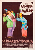 "Movie Posters:Comedy, The Bohemian Girl (MGM, 1936). Pre-War Italian Foglio (27.75"" X39.25"").. ..."