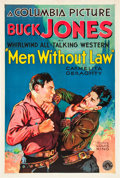 "Movie Posters:Western, Men Without Law (Columbia, 1930). One Sheet (27"" X 41"").. ..."
