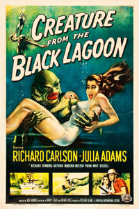 "Creature from the Black Lagoon (Universal International, 1954). MP Graded One Sheet (27"" X 41"")"
