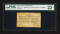 Colonial Notes:New York, New York August 25, 1774 (Water Works) 8s PMG Very Fine 25 Net.....
