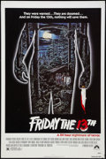 """Movie Posters:Horror, Friday the 13th (Paramount, R-1980s). One Sheet (27"""" X 41"""").Horror.. ..."""