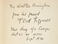 Books:Literature 1900-up, F. Scott Fitzgerald. Tender is the Night. A Romance. NewYork: Charles Scribner's Sons, 1934. First edition, third p...
