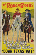 "Movie Posters:Western, Down Texas Way (Monogram, 1942). Stock One Sheet (27"" X 41""). Western.. ..."