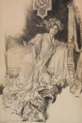 Mainstream Illustration, HOWARD CHANDLER CHRISTY (American, 1872-1952). A StrikingPose. Charcoal pencil on board. 38.5 x 25.5 in.. Signed lower...