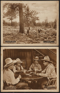 "Lightning Bryce (Arrow Film, 1919). Lobby Cards (2) (11"" X 14"") Episode 1 -- ""The Scarlet Moon."" Wes..."