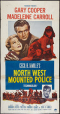 "Movie Posters:Adventure, North West Mounted Police (Paramount, R-1958). Three Sheet (41"" X81""). Adventure.. ..."