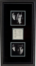 Music Memorabilia:Autographs and Signed Items, Beatles-Related - John Lennon and Paul McCartney AutographsDisplay....