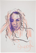 Music Memorabilia:Original Art, Rolling Stones Related - Ron Wood Drawing of Sheryl Crow....