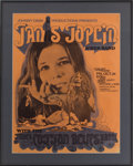 Music Memorabilia:Posters, Janis Joplin and Her Band/James Cotton Blues Band 1969 Henry LevittArena Concert Poster (Johnny Dark Productions, 1969)....