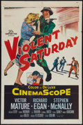 """Movie Posters:Crime, Violent Saturday (20th Century Fox, 1955). One Sheet (27"""" X 41""""). Crime.. ..."""