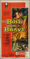 "Movie Posters:War, The Bold and the Brave (RKO, 1956). Three Sheet (41"" X 81""). War....."