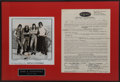 Music Memorabilia:Autographs and Signed Items, Steppenwolf Contract Signed by John Kay....