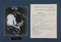 Music Memorabilia:Autographs and Signed Items, Steve Miller Band Signed Contract Display....