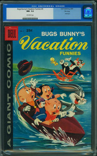 Dell Giant Comics Bugs Bunny Vacation F #9 - FILE COPY (Dell, 1959) CGC NM- 9.2 Off-white pages