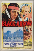 """Movie Posters:Serial, Black Arrow (Columbia, R-1955). One Sheet (27"""" X 41"""") Chapter 6 --""""Appointment with Death."""" Serial.. ..."""
