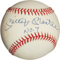 """Baseball Collectibles:Balls, Mickey Mantle """"No. 7"""" Single Signed """"Upper Deck Authenticated""""Baseball...."""