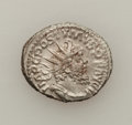 Ancients:Ancient Lots  , Ancients: ROMAN EMPIRE. Lot of two late Roman AR and Æ antoniniani(2). ... (Total: 2 coins)