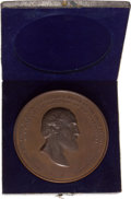 Military & Patriotic:Civil War, Very Rare Cased Gen. George Meade Bronze Medallion....