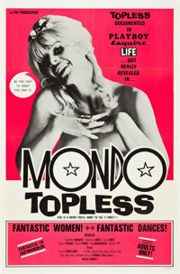 "Mondo Topless (Eve Productions, 1966). One Sheet (27"" X 41"")"