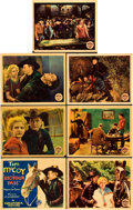 """Movie Posters:Western, Shotgun Pass (Columbia, 1931). Title Card and Lobby Cards (6) (11"""" X 14"""").. ... (Total: 7 Items)"""