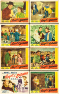 """Movie Posters:Western, Angel and the Badman (Republic, 1947). Lobby Card Set of 8 (11"""" X14"""").. ... (Total: 8 Items)"""
