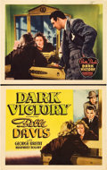 """Movie Posters:Drama, Dark Victory (Warner Brothers, 1939). Other Company Title Lobby Card and Lobby Card (11"""" X 14"""").. ... (Total: 2 Items)"""