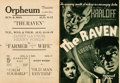 "Movie Posters:Horror, The Raven (Universal, 1935). Herald (9.75"" X 14.25"").. ..."