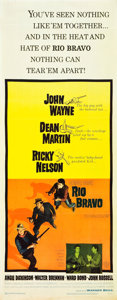 "Movie Posters:Western, Rio Bravo (Warner Brothers, 1959). Insert (14"" X 36"").. ..."