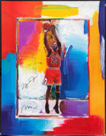 Baseball Collectibles:Others, Michael Jordan Signed Peter Max Lithograph with Remarque. ...