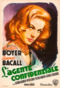 "Movie Posters:Drama, Confidential Agent (Warner Brothers, 1945). Italian Foglio (27"" X39.5"").. ..."