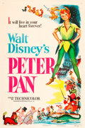 "Movie Posters:Animated, Peter Pan (RKO, 1953). One Sheet (27"" X 41"").. ..."
