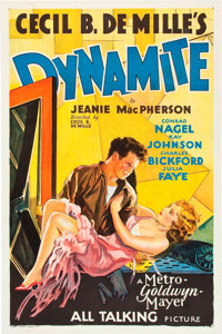 "Dynamite (MGM, 1929). One Sheet (27"" X 41"") Sound Style"