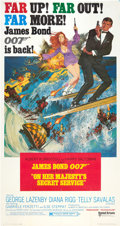 "Movie Posters:James Bond, On Her Majesty's Secret Service (United Artists, 1970). Three Sheet (41"" X 81"").. ..."