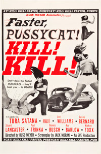 "Faster, Pussycat! Kill! Kill! (Eve Productions, 1965). One Sheet (27"" X 41"") Style B"