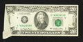 Error Notes:Attached Tabs, Fr. 2072-G $20 1977 Federal Reserve Note. Very Fine-ExtremelyFine.. ...
