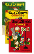 Golden Age (1938-1955):Cartoon Character, Walt Disney's Comics and Stories #151-200 Group (Dell, 1953-57)Condition: Average VG-.... (Total: 50 Comic Books)