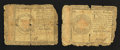 Colonial Notes:Continental Congress Issues, Continental Currency January 14, 1779 $1 and $80.. ... (Total: 2notes)