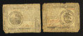Colonial Notes:Continental Congress Issues, Continental Currency May 9, 1776 $3 and $6 Very Good.. ... (Total:2 notes)