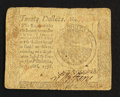 Colonial Notes:Continental Congress Issues, Continental Currency September 26, 1778 $20 VG-Fine.. ...