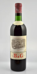 Red Bordeaux, Chateau Lafite Rothschild 1966 . Pauillac. 1bn, 4ts, 2vhs,1lnl, 3lbsl, 1sos. Bottle (7). ... (Total: 7 Btls. )