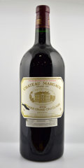 Red Bordeaux, Chateau Margaux. Margaux. 2002 ltl Double-Magnum (1). 2002 lbsl, 1lscl Magnum (1). ... (Total: 1 D-Mag. & 1 Mag. )