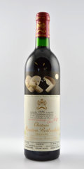 Red Bordeaux, Chateau Mouton Rothschild 1986 . Pauillac. 1scl. Bottle (2).... (Total: 2 Btls. )