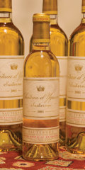 White Bordeaux, Chateau d'Yquem. Sauternes. 2001 Bottle (6). 2001Half-Bottle (3). ... (Total: 6 Btls. & 3 Halves. )