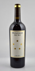 Domestic Cabernet Sauvignon/Meritage, Hundred Acre Cabernet Sauvignon 2001 . Kayli Morgan Vineyard. 1lbsl, 6 bottles in 2owc. Bottle (8). ... (Total: 8 Btls. )
