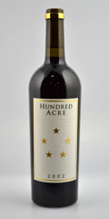 Domestic Cabernet Sauvignon/Meritage, Hundred Acre Cabernet Sauvignon. Kayli Morgan Vineyard. 2002 1lbsl Bottle (3). 2003 4bsl Bottle (1). 2004 1l... (Total: 10 Btls. )