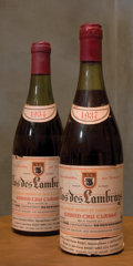 Red Burgundy, Clos des Lambrays 1934 . Domaine du Clos des Lambrays .1(4.5cm), 1(5cm), 2bsl, 2tl, vibrant garnet red color. Bottle (2...(Total: 2 Btls. )